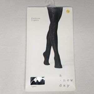 a new day Accessories - A New Day Shiny Jacquard Opaque Tights Hosiery